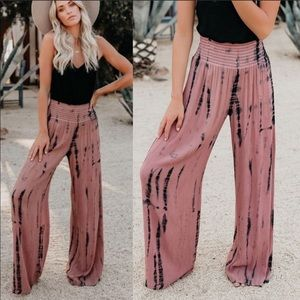 3003667a2de Pants - Tie dye palazzo pants trousers wide leg boho
